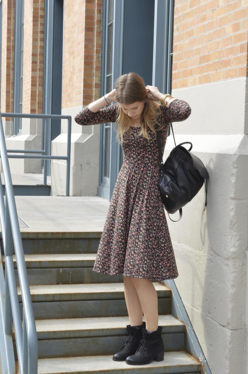 Dress: Reformation| Backpack: rag & bone