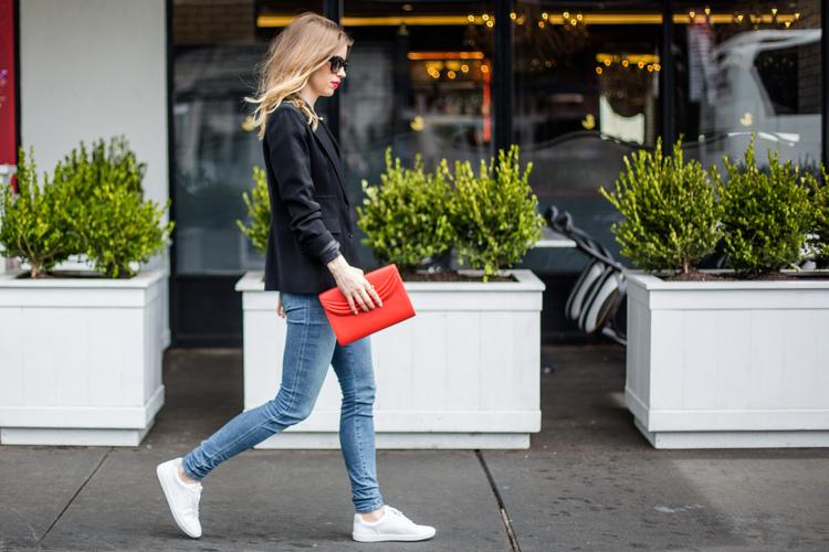 redclutchwhitesneakers