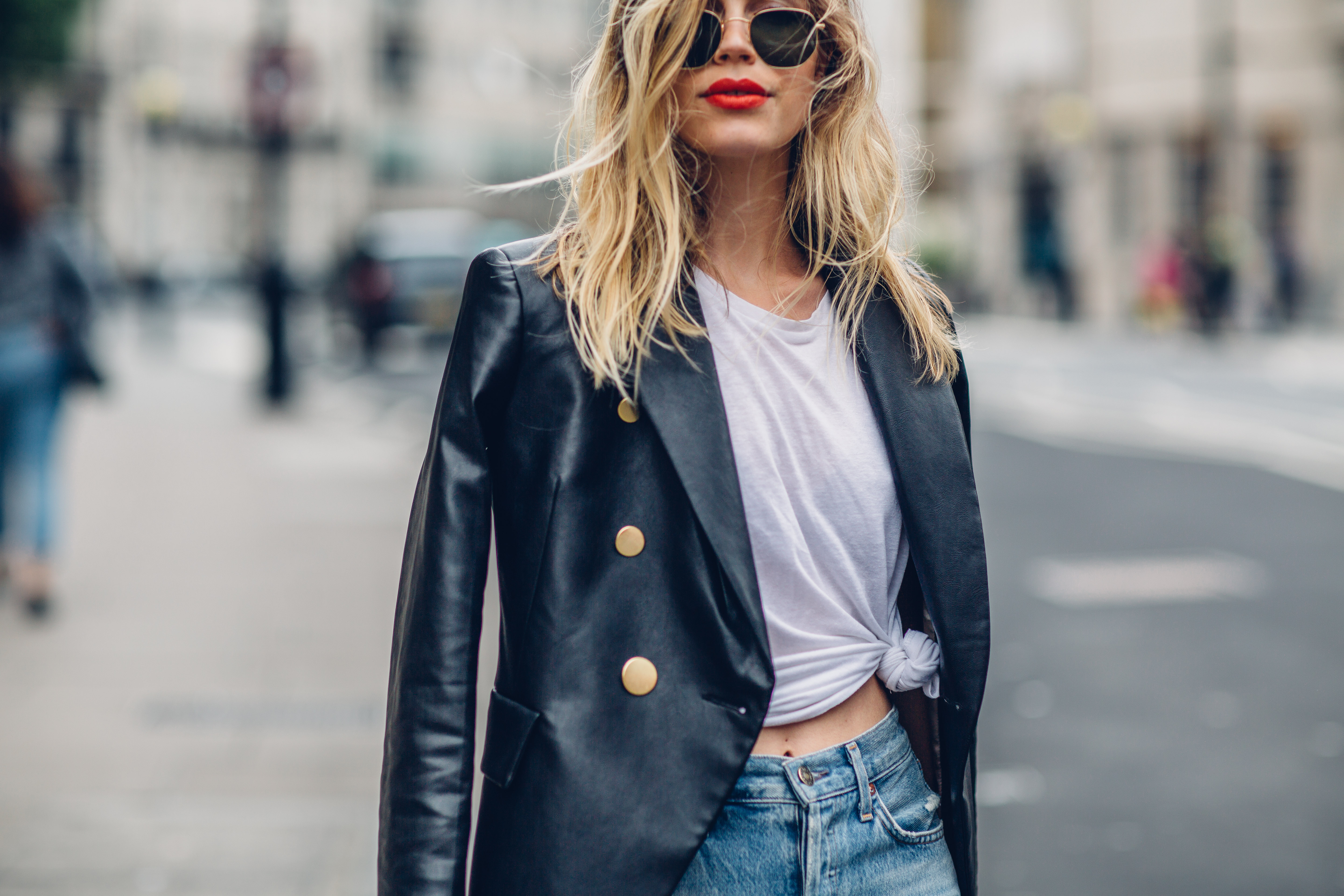 leather jacket, london blogger